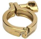Rubber Fab Gold Single Pin Sanitary Hinge Clamp